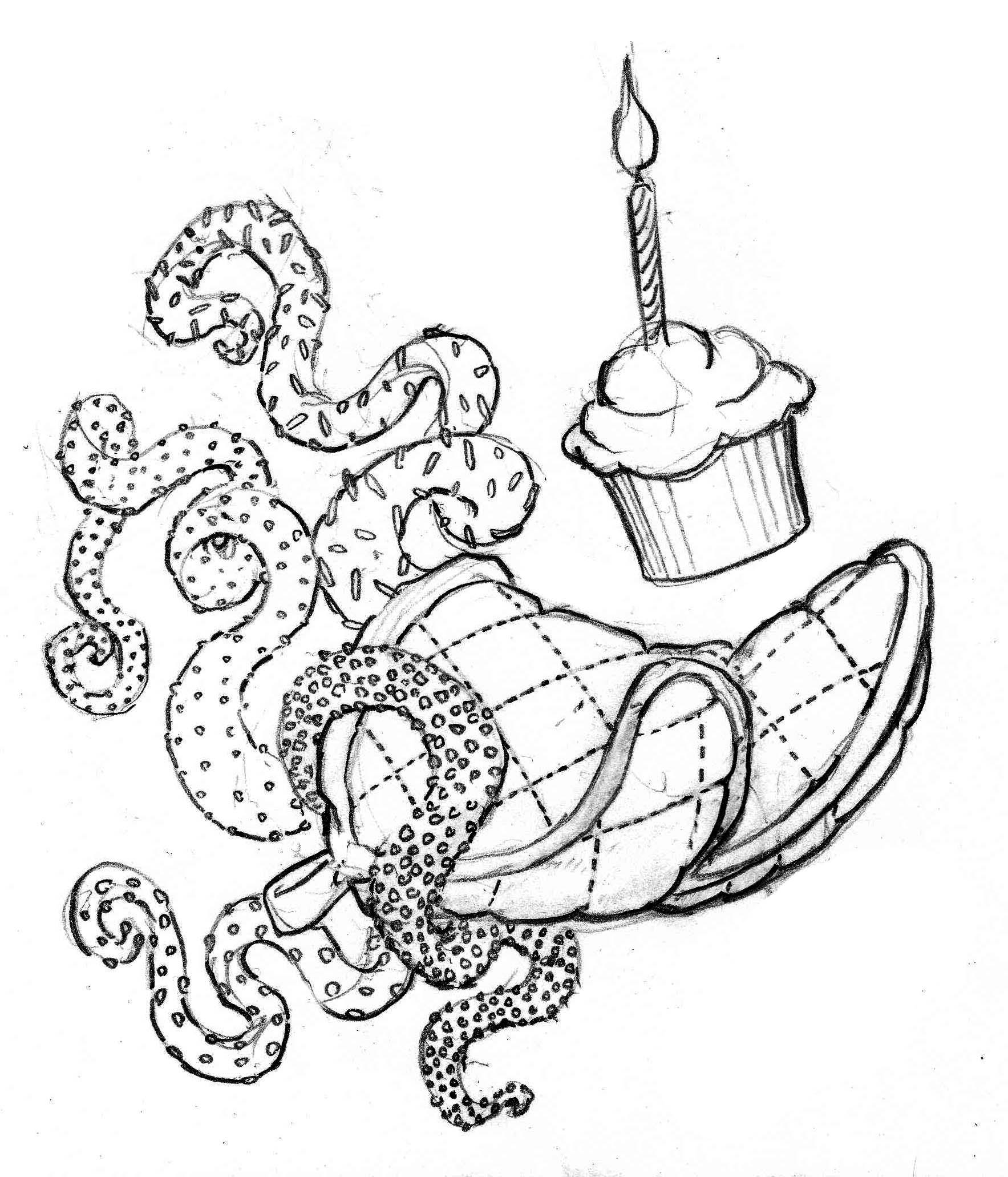 cupcake squid